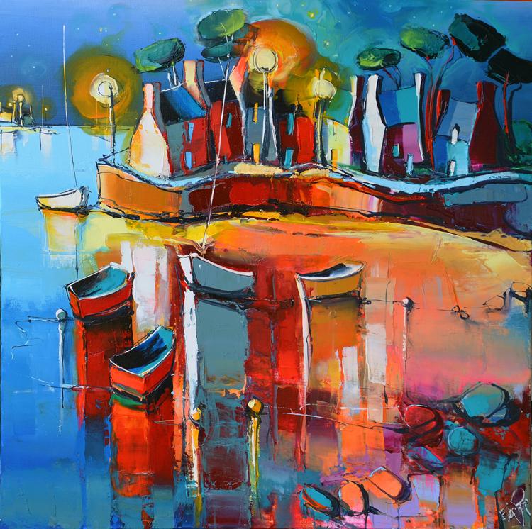 Peinture d'Eric Le Pape, l'abri du marin