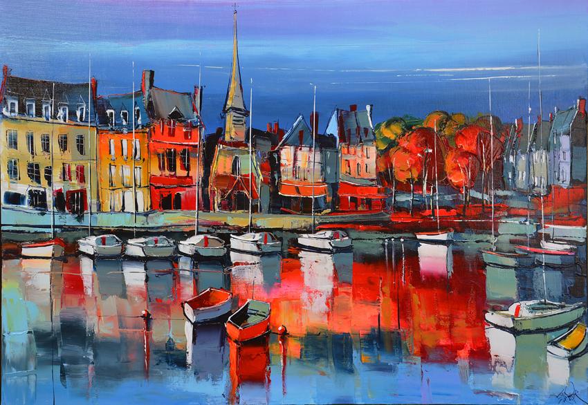Automne sur Honfleur par Eric Le Pape, peintre
