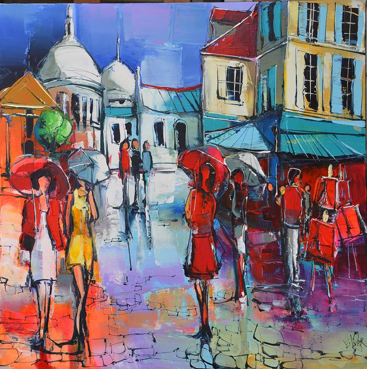 Peinture d'Eric Le Pape, Montmartre, Paris