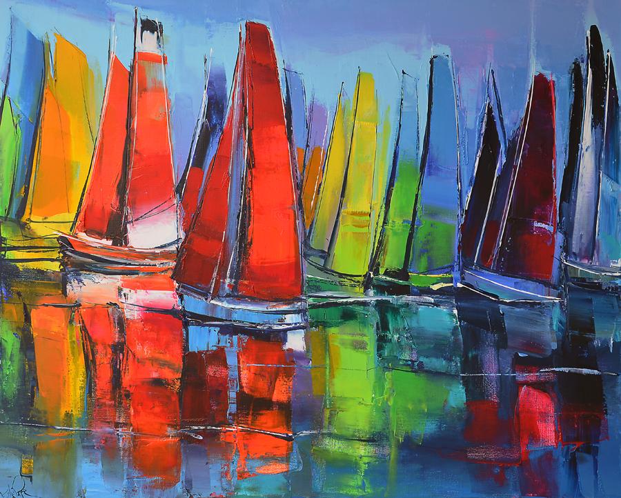 Peinture d'Eric Le Pape, la régate