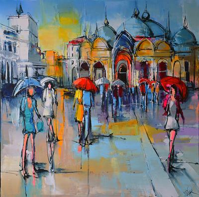 Place Saint-Marco par Eric Le Pape, peintre