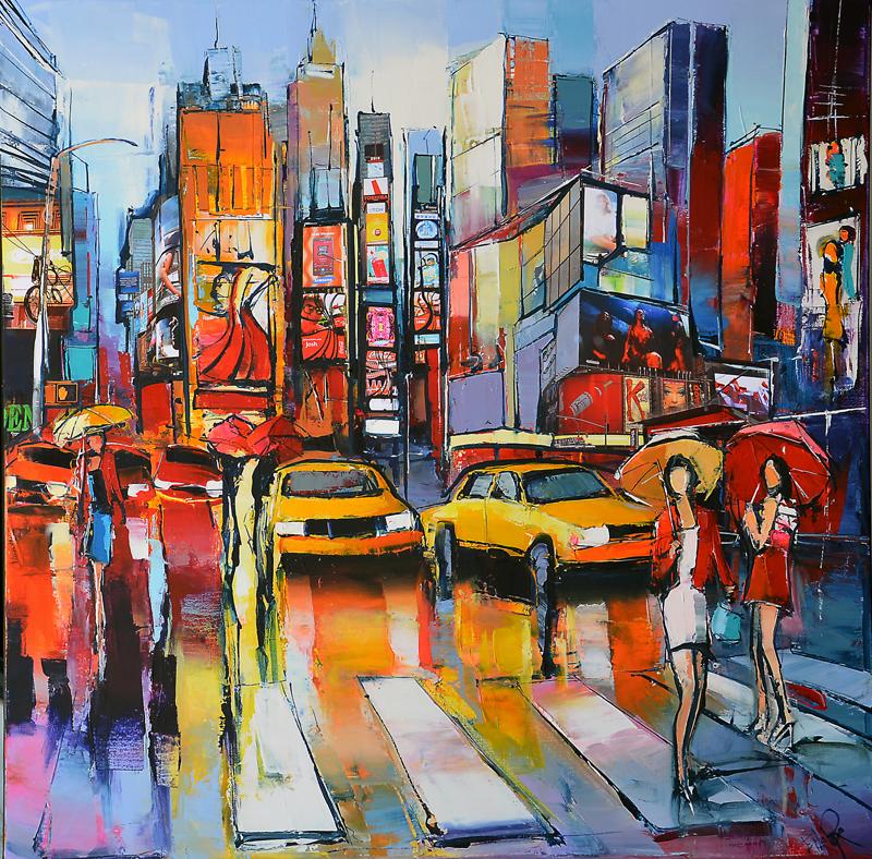 Peinture d'Eric Le Pape, sur la 6e avenue