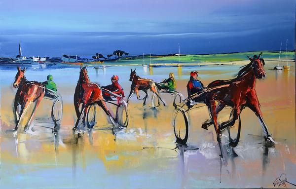 Peinture d'Eric Le Pape, la balade de mer