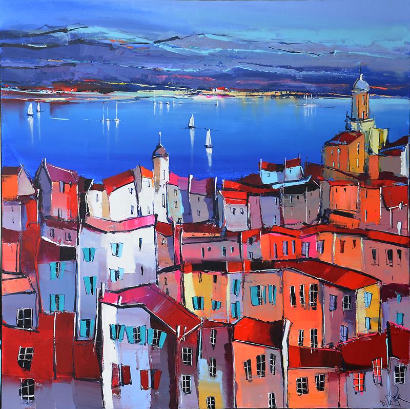 Peinture d'Eric Le Pape, la baie d'Ajaccio