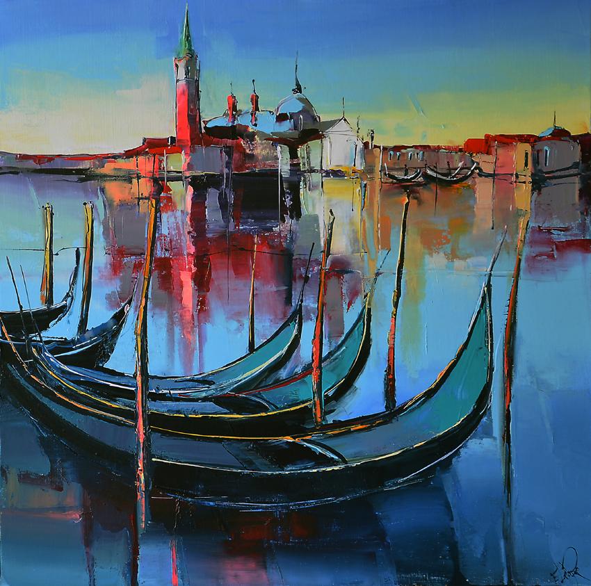 Peinture d'Eric Le Pape, Venise, Italie