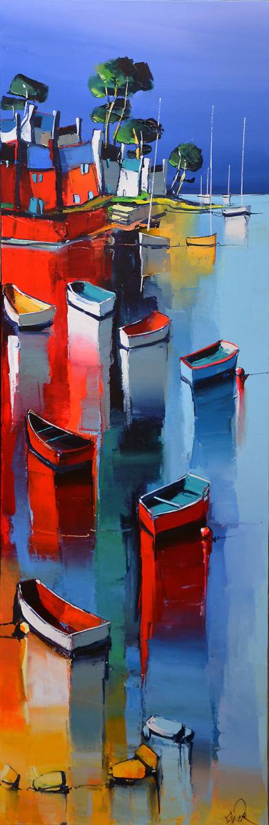 Peinture d'Eric Le Pape, le long de l'Odet