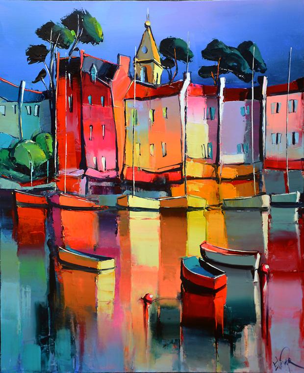 Inspiration à Saint-Florent, Corse, peinture d'Eric Le Pape