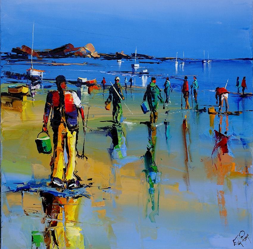 Les grandes marées d'août, peinture d'Eric Le Pape